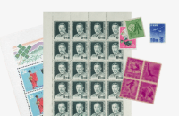 バラ切手・シート切手多数の写真