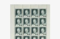文化人シリーズのシート切手の写真