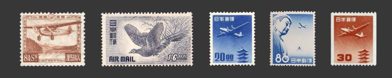 航空切手の写真